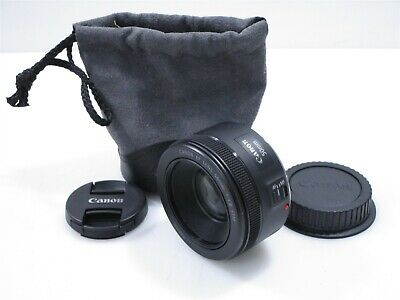 Canon EF 50mm f/1.8 STM Prime Lens with Caps and Case