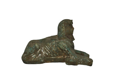 ANCIENT EGYPT ANTIQUE Egyptian stone Sphinx statue
