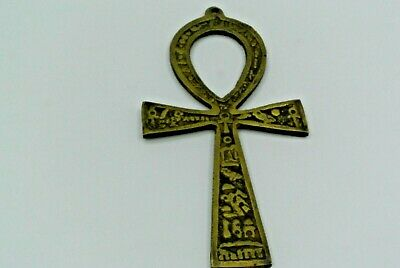 Antique Large brass Egyptian Key of Life Ankh  copper vintage handcrafted Decor