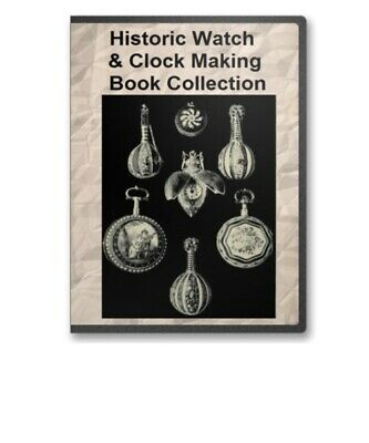 Historic Watch and Clock Making Reference Library Book Collection on CD