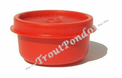 New Tupperware Smidgets Mini Tiny Bowl Container 1 oz Chili Red Matching Seal