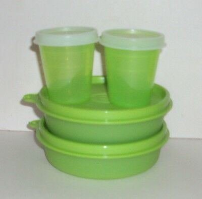 New TUPPERWARE Bowls Set of 4 Little Wonders Midgets Lime Green