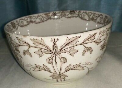 Antique Late 1800's T&R Boote England Lahore Transferware Old Brown Scroll BOWL