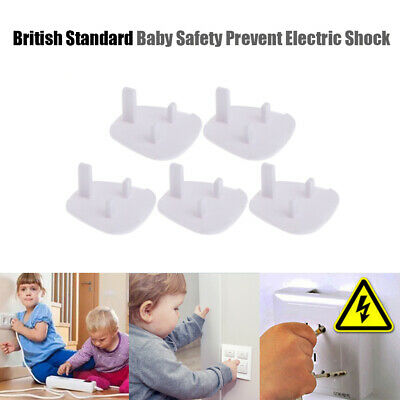 10pcs UK 3 Hole Plug Power Outlet Cover Baby Child Electrical Safety Protector_