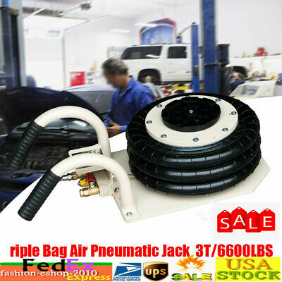 NEW Triple Bag Air Jack 3 Ton Pneumatic Jack Lifting 6600 pounds  Heavy Duty US