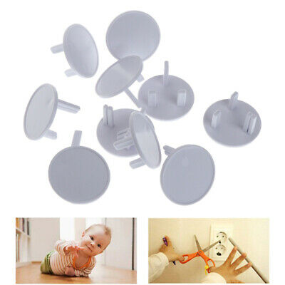 10Pcs UK Power Socket Outlet Mains Plug Cover Baby Child Safety Protector Guard_
