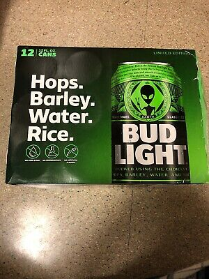 Bud Light Area 51 12 Pack Green Alien Can Very Limited/FREE SHIPPING/box Only!!
