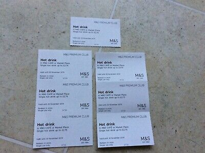 7 Marks and Spencer Hot drink vouchers