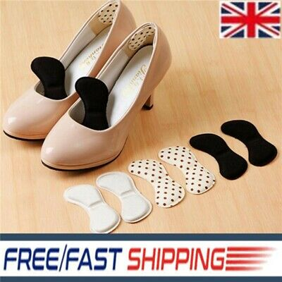 5 Pairs Heel Inserts Insoles Pads Extra Sticky Sponge Shoe Cushion Grips Strong
