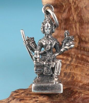Precious China Solid Silver Pendant Statue God Mascot Hand-Carved Mascot