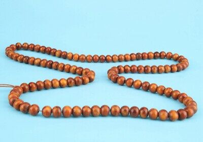 China Wood Hand-Carved Buddhist Necklace Spiritual Gifts High-End Collection