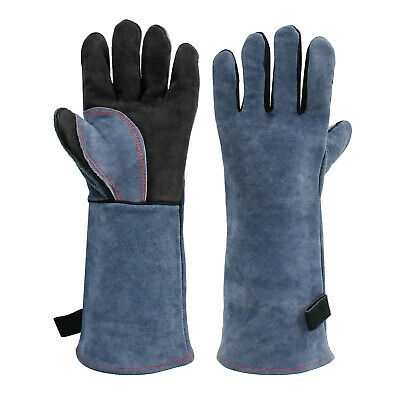 HITBOX Heavy Duty Tig Mig Welding Gloves Heat Fire Resistant BBQ Grill Gloves
