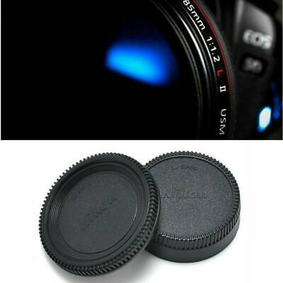 2PCS Body Lens Cap Front + Rear Cover For Nikon AF AF-S Lens DSLR SLR Camera New