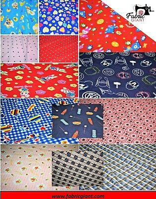 Soft Brushed 100% Cotton Flannel Fabric/Wincyette,Winter shirts nightwear,14 des