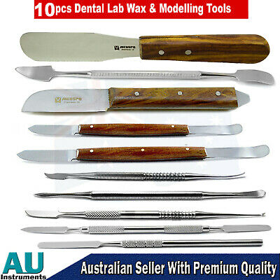 Dental Waxing Modelling Instruments Wax Carvers Knives Plaster Spatulas Mixing