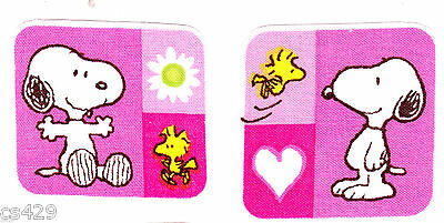 """2/"""" Baby snoopy marbles /& woodstock set fabric applique iron on character"""