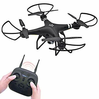 Keliwow RC Drone with Camera 2MP WiFi HD 1080P Hobby RC Quadcopter (189-black)