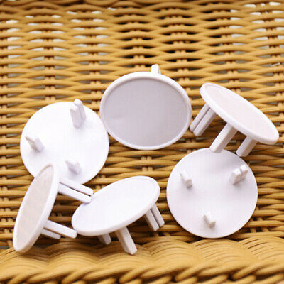 5Pcs uk socket outlet mains plug cover baby child safety protector guard InPTH