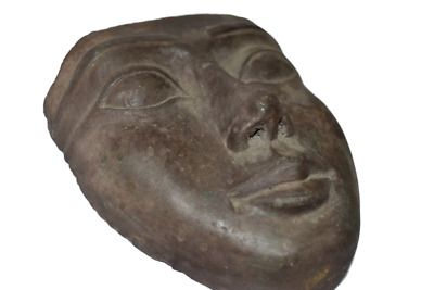 ANCIENT EGYPT ANTIQUE Egyptian stone wall mask b