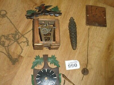 Vintage Cuckoo Clock For Restoration