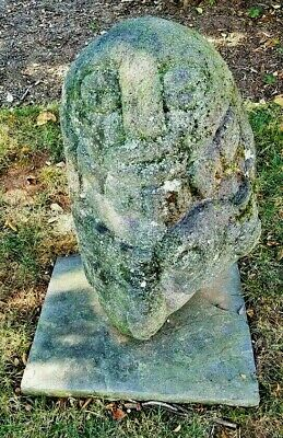 ~Authentic, Monumental Pre-Columbian Carved Lava Diety - with Provenance