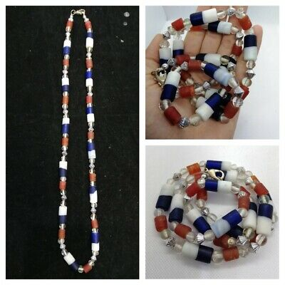 Ancient & Medieval Glass Beads Old — Roman Viking Venetian Byzantine — Blue
