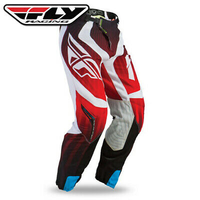 """Fly Racing Lite Hydrogen Pants Red/White 34"""" Waist"""