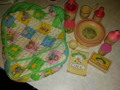 Vintage Cabbage Patch Kids Baby Doll Diaper Bag Feeding Set 1980