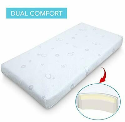 Marine Moon Crib Mattress and Toddler Mattress Memory Foam, Double Sided Baby