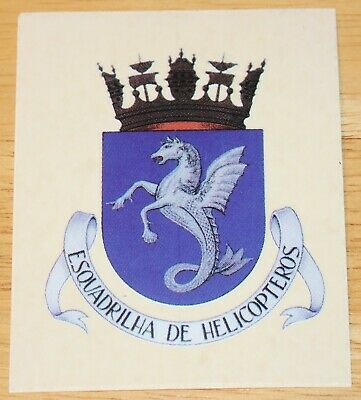 Old Portuguese Air Force Esquadrilha De Helicopteros Crest Sticker