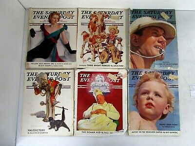 6 Vintage Issues of The Saturday Evening Post From May, June, July & August 1938