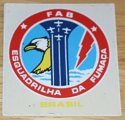 Old Brazilian Air Force Esquadrilha Da Fumaca Smoke Sqn Display Team Sticker