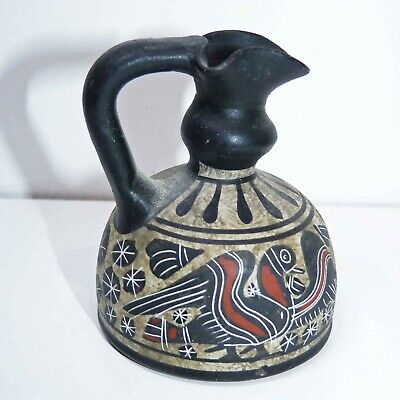 Vintage Greek Corinthian Pitcher Jug, Miniature MUSEUM COPY of Ancient Original