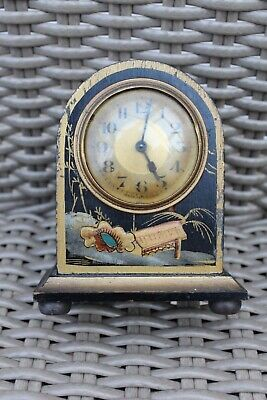 Old Clock,  Decorated With Japanese Scenes