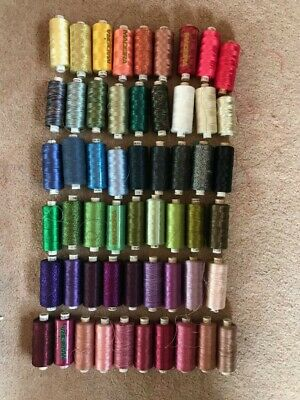 Job Lot 55 Madeira Polyester Sewing Thread Embroidery Needlework