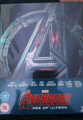 Avengers Age of Ultron Steelbook 3D and 2D Blu Ray Thor,Iron Man, Captain Americ