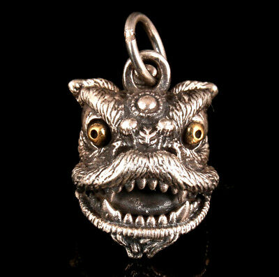 Precious Solid Silver Pendant Statue Fashion Limited Edition Dragon Mascot