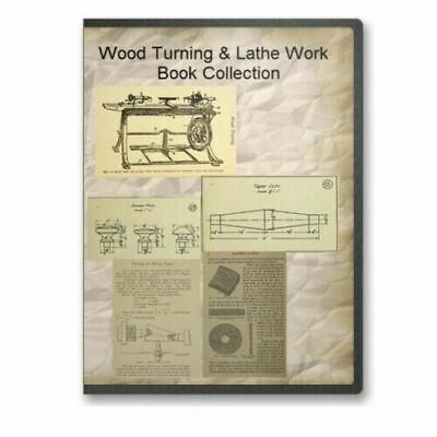 Wood Turning & Lathe Work Book Collection on CD