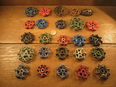 25 Vintage Valve Handles Water Faucet Knobs STEAMPUNK Industrial Arts & Crafts