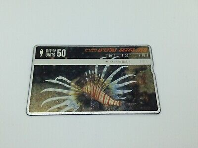 Israel Old Bezeq Telecard Phone Card 50 Units Pterois Miles Fish