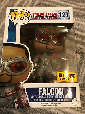 Captain America Civil War Funko Pop! Falcon #127 Hot Topic Exclusive