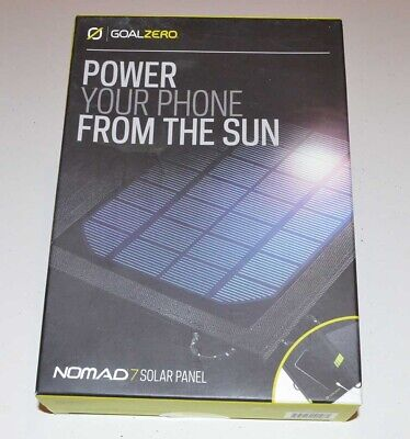 New Goal Zero Nomad 7 Cell Phone Solar Panel Charge - 7 Watt