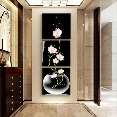 3pc Unframed Modern Flower Art Oil Canvas Painting Picture Print Home Wall