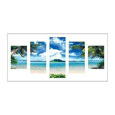 Seaside 5D DIY Full Drill Diamond Painting Craft 5-picture Combination Art  P4PM