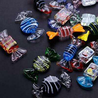 20PC Murano Style Glass Sweets Candy Ornament For Party Festival Decor Vintage