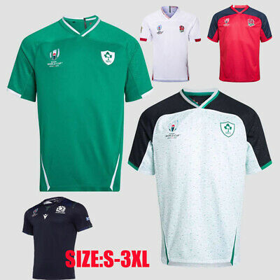 Mens NEW GREEN WHITE Red Rugby jerseys man T-shirt Size :S-3XL 2019/2020