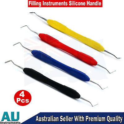 Dental Composite Tooth Filling Instruments Restorative Pluggers Silicone Handle