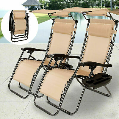 Phenomenal Set Of 2 Adjustable Zero Gravity Chair Patio Folding Andrewgaddart Wooden Chair Designs For Living Room Andrewgaddartcom