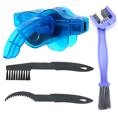 Bike Bicycle Cycling Chain Wheel Wash Cleaner Tool Brushes Scrubber Set Kit
