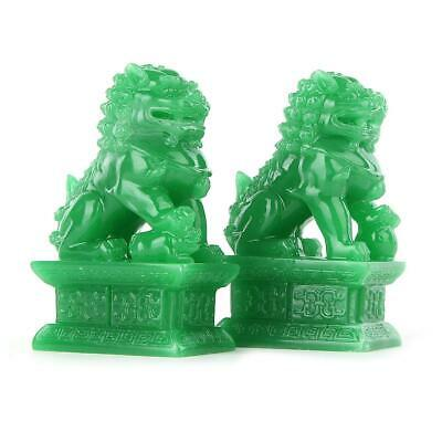 A Pair Of Fu Foo Dogs Guardian Lion Statues Beijing Lion Feng Shui Decoration